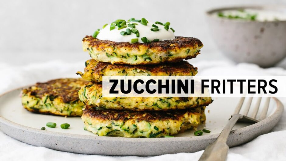 ZUCCHINI FRITTERS | healthy, gluten-free, low-carb, keto recipe